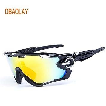 obaolay polarizadas ciclismo gafas 5 lente de grupo Mans deporte gafas de bicicleta de montaña MTB