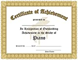 img - for Certificate of Outstanding Achievement in the Study of Piano - 10 Awards per package. book / textbook / text book