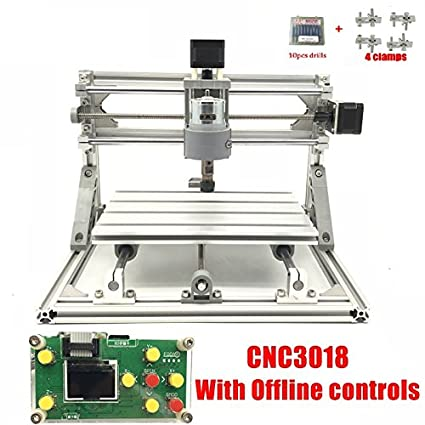 3 Axis Diy Cnc Router Kit 30x18x4 5cm Wood Engraver Pcb Milling