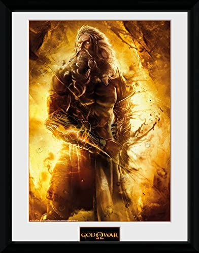 GB Eye LTD, God of War, Zeus, Print Enmarcado, 30 x 40 cm: Amazon ...