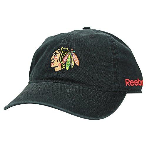 Women's Reebok Slouch Fit Adjustable Baseball Hat (Chicago Blackhawks)
