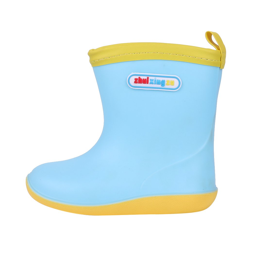 Asgard Cute Rain Boots for Kids Waterproof Candy Color Ankel Rubber Boots, with Warm Cosy Soft Socks B16 by Asgard (Image #3)