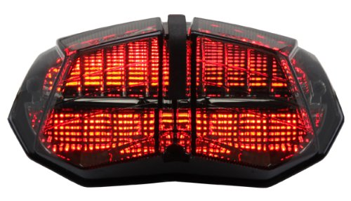 Integrated Sequential LED Tail Lights Smoke Lens for 2009-2014 Ducati Streetfighter