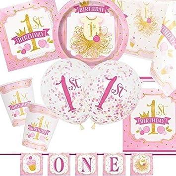 Party Bags 2 Go Rosa y Dorado 1º Cumpleaños Ultimate Kit ...