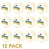 12 Clear Packing Tape Rolls - 1.88 inch x 60 Yards Heavy Duty Packaging Tape Refill Rolls