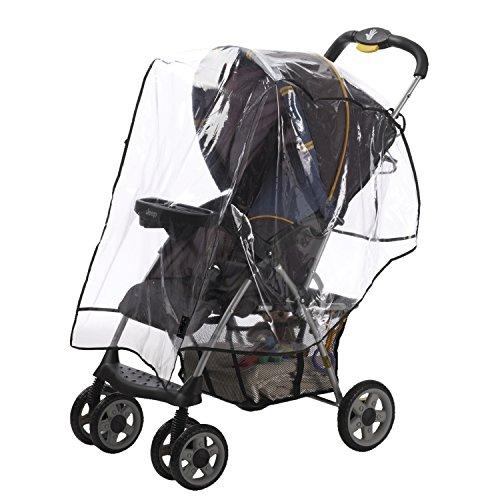 (Alphabetz Stroller Rain Cover, Weather Shield, Clear, Universal Size)