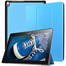 Pulen for Lenovo Tab E10 Case,[Anti Slip] [Shock-Absorption] Lightweight Slim Trifold Stand Case Cover for Lenovo Tab E10 TB-X104F Tablet 2018 (Blue)