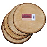 Cheap Wilson Enterprises 4 Pack Basswood Round Rustic Wood, Unsanded, 9-11″ Diameter (Large) Excellent for Wedding Centerpiece, DIY Woodland Projects, Table Chargers, or Country Decor
