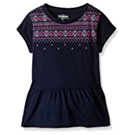 [Sponsored]Little Girls' Embroidered Peplum Top (Toddler/Kid)