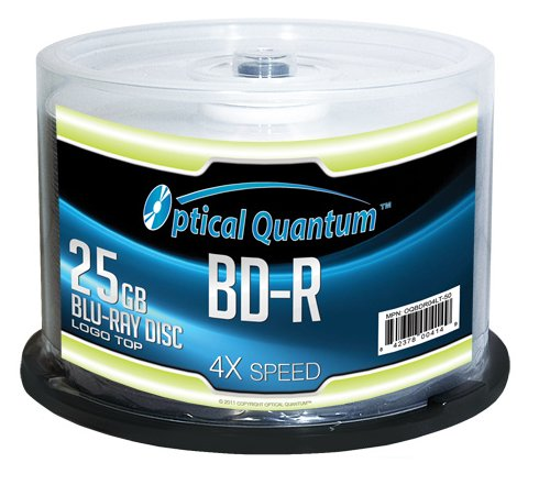 Optical Quantum OQBDR04LT-50 4X 25 GB BD-R Single Layer Blu-