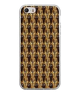 PrintVisa Designer Back Case Cover for Apple iPhone 4 (Bronze Girl Face Long Earrings)