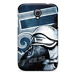 Anti-Scratch Hard Cell-phone Cases For Samsung Galaxy S4 (QKD19150zGyj) Provide Private Custom Beautiful St. Louis Rams Image