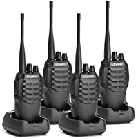 Olywiz 826 Walkie Talkie Long Range Two-Way Radio with Rechargeable 1800MAh Li-ion Battery Long Working Distance for Adults Outdoor | 4 Pcs