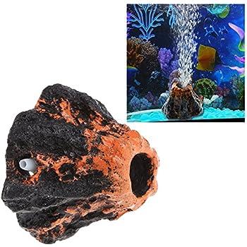 Hacloser Volcano Bubbler Fish Tank Air Bubble Stone Aquarium Ornament Oxygen Pump Air Pump