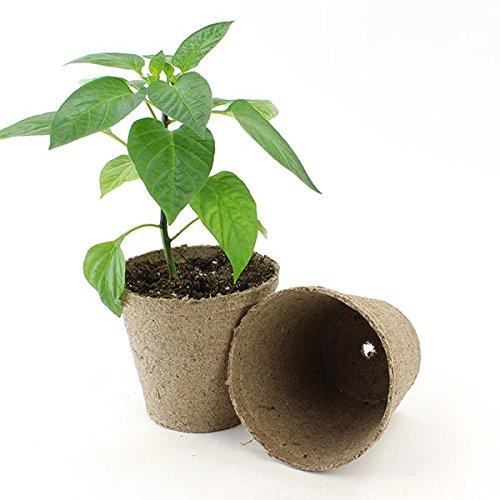 Jiffy 4'' Round Peat Pots 960ct Case