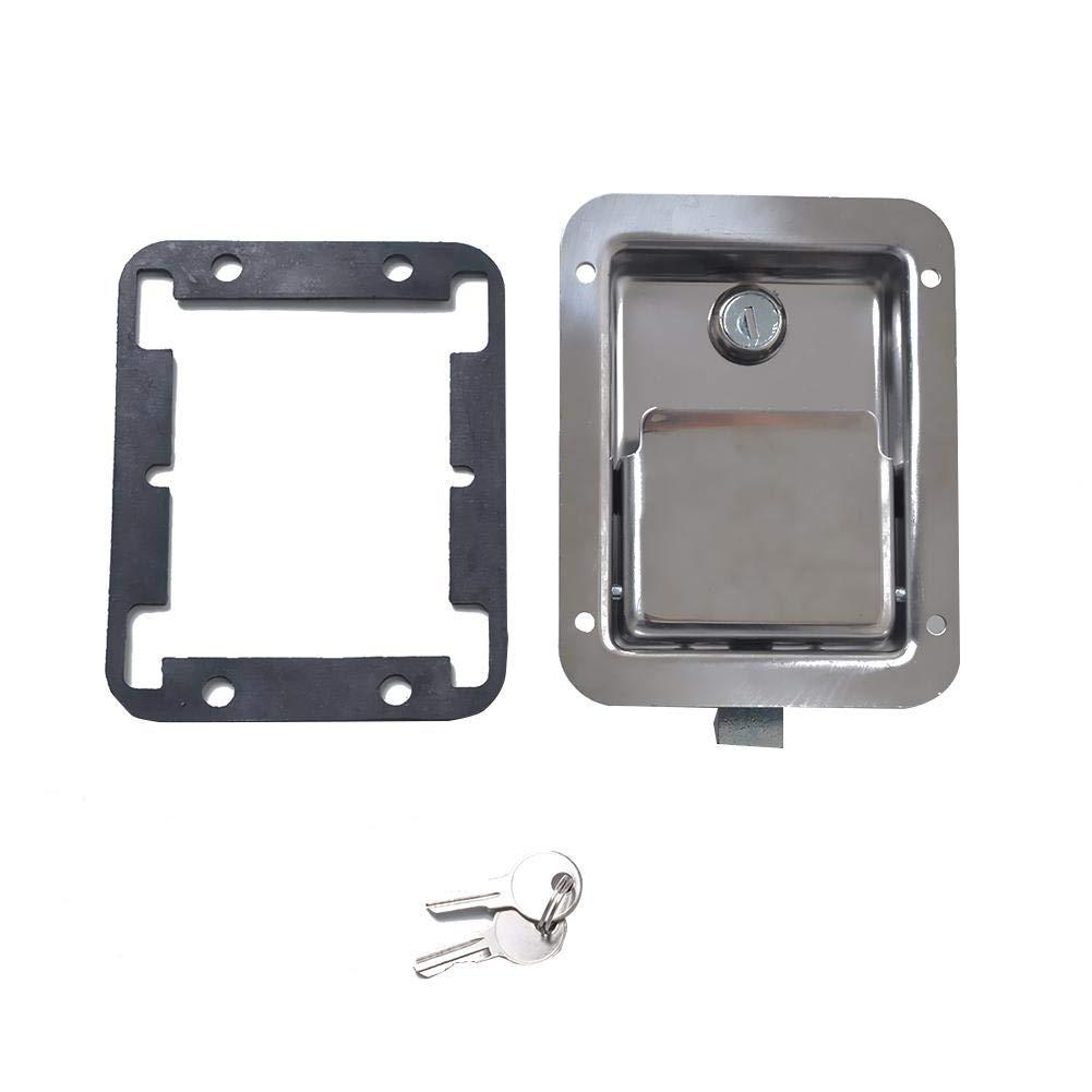 Chengstore Car Stainless Steel Trailer Toolbox Lock Door Lock in-Line Lock Tool Tear Drop Latch Stainless Steel Box Lock Stainless Steel Paddle Latch by Chengstore (Image #6)