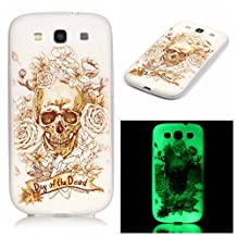 S3 Case, Galaxy S3 Case, SATURCASE Luminous Fluorescent Glow Ultra Thin Soft TPU Gel Silicone Back Case Cover for Samsung Galaxy S3 SIII I9300 (Color-13)