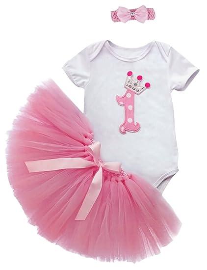 Saludable clubes Niñas para bebé body body de tul falda tutú vestido fiesta de cumpleaños Outfit