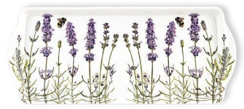 Ashdene I Love Lavender 6-1/2 by 15-Inch 100-Percent Melamine Sandwich Tray
