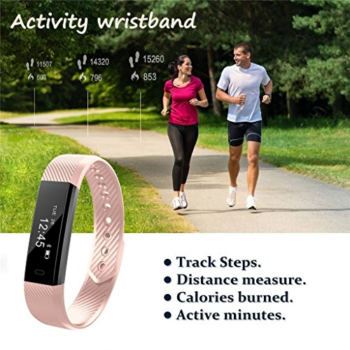 Fitness Tracker Watch, Waterproof Sport Wristband Pedometer Bluetooth Smart Bracelet Wireless Touch Screen Sleep Monitor Activity Tracker with with Step Distance Calorie Counter for for Android / iOS