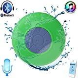 Waterproof Bluetooth Shower Speaker Hands Free Speakerphone Mini Speakers for iPhone,iPad, Cell Phone,Laptop,Xbox,Computer(Green)
