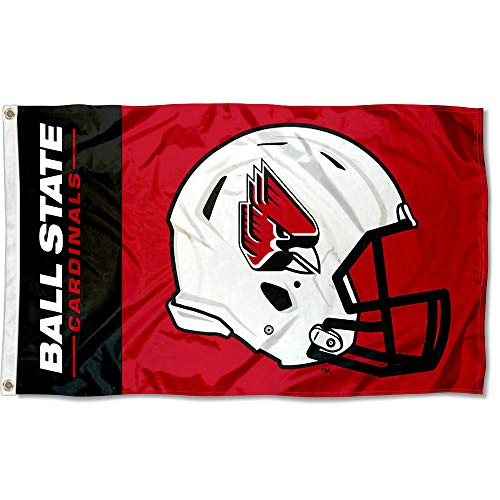 College Flags and Banners Co. Ball State Cardinals Football Helmet Flag
