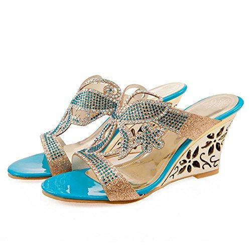 Melady 3 Mules Verano Mujer Sandalias blue qwqnrOSHC