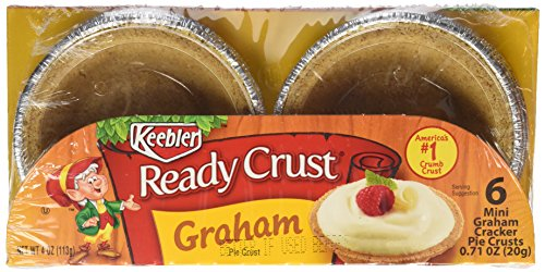 Keebler Ready Crust, Graham Cracker, Mini 3-Inch Tart, 0.17 oz 6 count (Graham Cracker Pie)