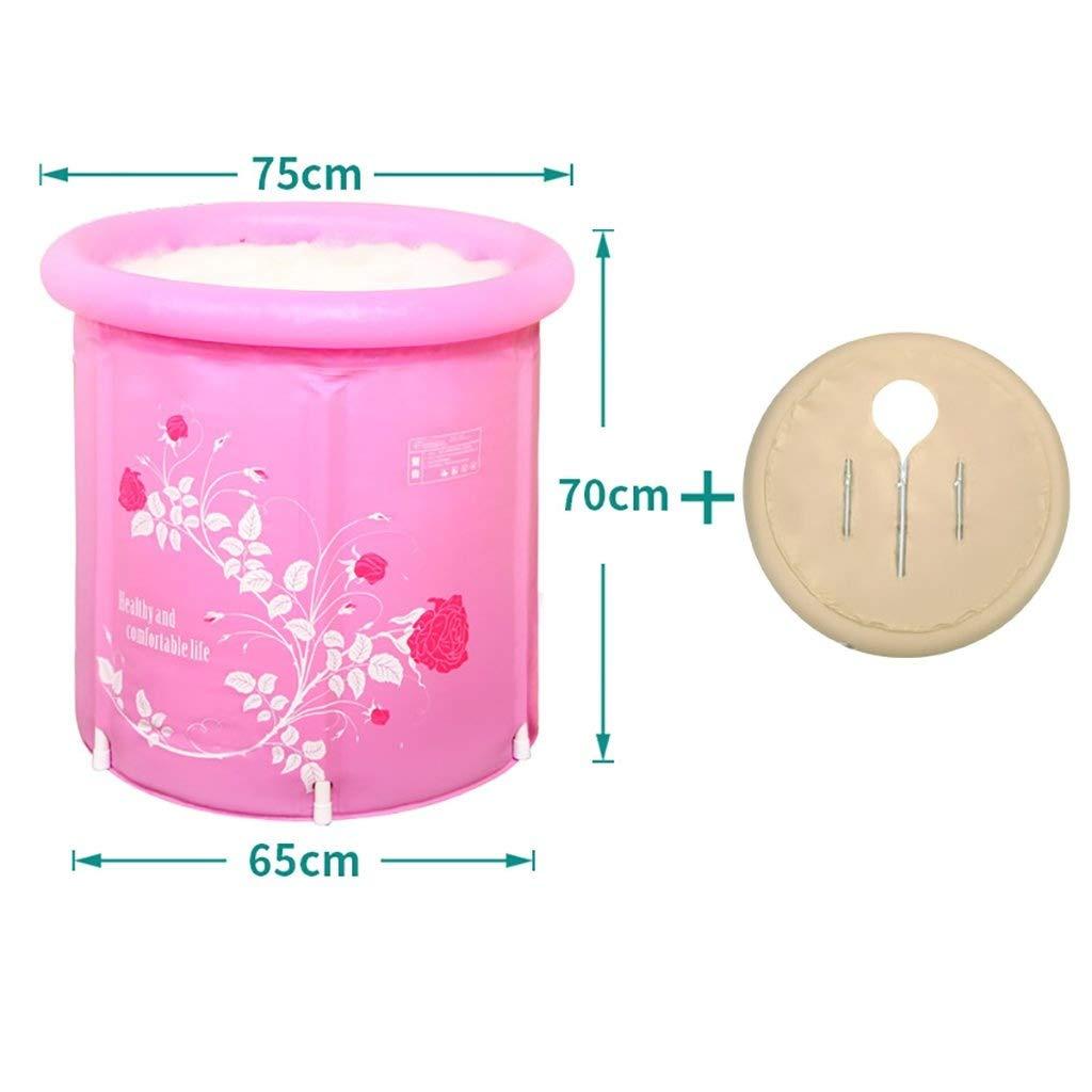 Folding Bathtub, Bathtub, Folding Tub, Plastic Bathtub, Adult Bathtub, Children's Tub, Plastic Tub GAOFENG (Color : Pink)