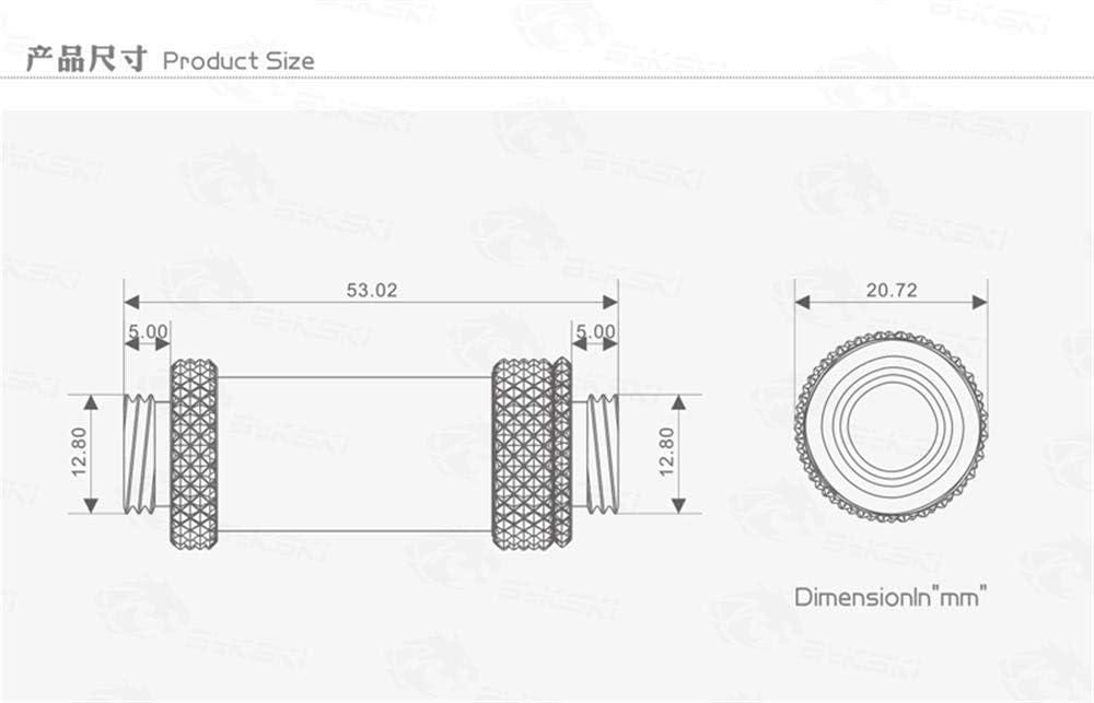 Bykski B-EXPJ-X41 41-69mm Telescopic Fitting for SLI Crossfire Silver