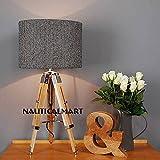 Decorative Mini Wooden Tripod Lamp -Home Decorative By Nauticalmart