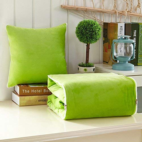 Touchable Crystal Case - Ecorative Pillowcase/Sequins Pillow Cases HOME Crystal velvet pillow is used for dual purpose car multi-function cushion (Color : Green, Size : 40B110x150cm) ( Color : Green , Size : 50B150x195cm )