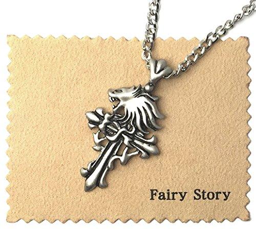 【Fairy Story】 FINAL FANTASY Ⅷ ファイナルファンタジーVIII 十字架 スコール・レオンハート クロス モチーフ コスプレ ネックレス【クロス&箱あり】