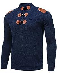 Men's Slim Fit Basic Long Sleeve Mock Neck Knitted Pullover Sweater
