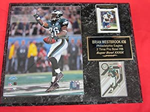 Brian Westbrook Philadelphia Eagles 2 Card Collector Plaque w/8x10 Super Bowl Photo