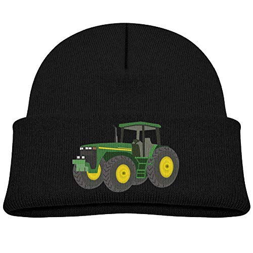 - Qiop Nee Beanie Hats Knit Cap Wool Green Tractor Winter Soft Boys Girl