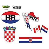 Croatia - Set of Vehicle Stickers. Great Gift idea for Your Friend or Family Member Perfect for Outdoor or Indoor use.