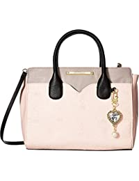Womens Dip Satchel with Removable Pouch