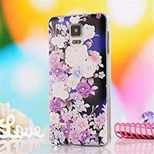 ZXC Samsung Galaxy Note 4 compatible Special Design/Diamond Look Plastic Back Cover