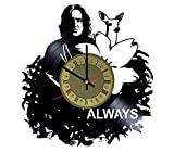 Severus Snape always vinyl wall clock - handmade unique home bedroom living kids room nursery wall decor great gifts idea for birthday, wedding, anniversary - customize your clock (Gold/Black)