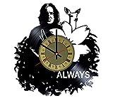 Severus Snape always vinyl wall clock - handmade unique home bedroom living kids room nursery wall decor great gifts idea for birthday, wedding, anniversary - customize your clock (Gold/Black)