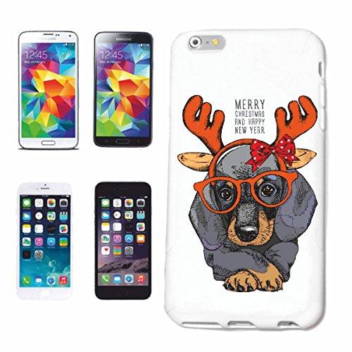 caja del teléfono iPhone 7+ Plus Dachshund con astas de los ciervos Y VIDRIOS cría de perros CUIDADO entrenamiento de la casa PERROS PERRERA DE CRIADORES DE PERRITO Caso duro de la cubierta Teléfono