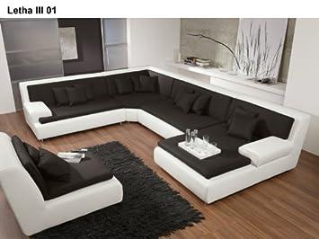 Designer Garnitur Letha Iii Wohnlandschaft Sofa Eck Couch Garnitur