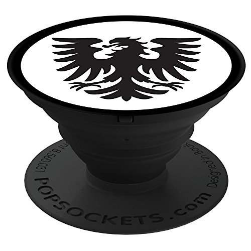 Sassy Southern Charm & Grace Unique Medieval Fantasy Family Crest & Crown on Black PS02545 PopSockets Stand for Smartphones and - Crown Phone Cell Charms
