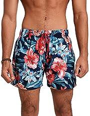 شورت سباحة رجالي بنقشة زهور متعدد الالوان برباط من ريد دوت، متوسط الطول، مقاس XXL