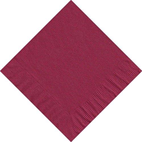 (50 Plain Solid Colors Luncheon Dinner Napkins Paper - Burgundy)
