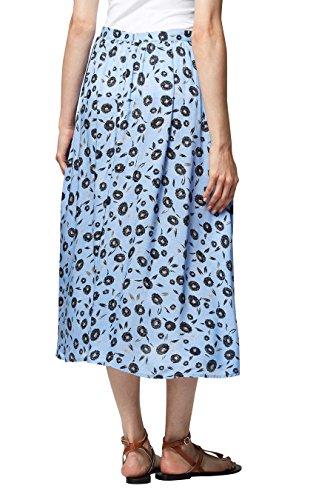 next Mujer Falda A Media Pierna Estampada Corte Regular Azul