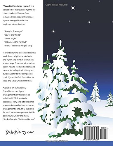Favorite Christmas Hymns: A Collection of Five Easy Christmas ...