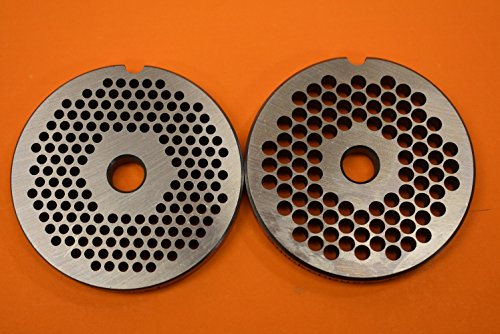 TWO size #12 meat grinder plates. 1/8