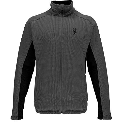 Spyder Men's Foremost Full Zip Heavy Weight Stryke Fleece, Polar/Black, Large